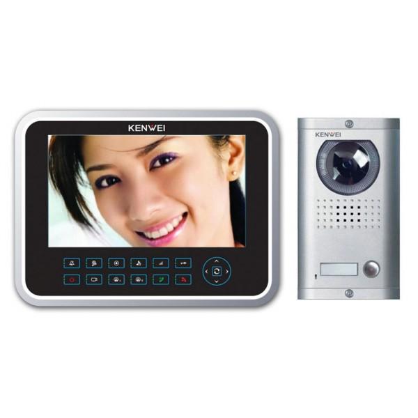 Komplet video domofon KW-129C & KW-138MC-1B - ČRNA