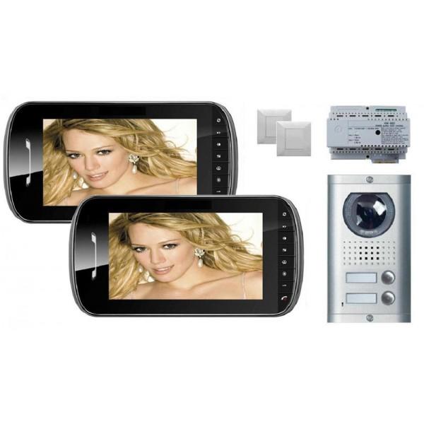 Komplet video domofon KW-E703FC & KW-138MC-2B - ČRNA