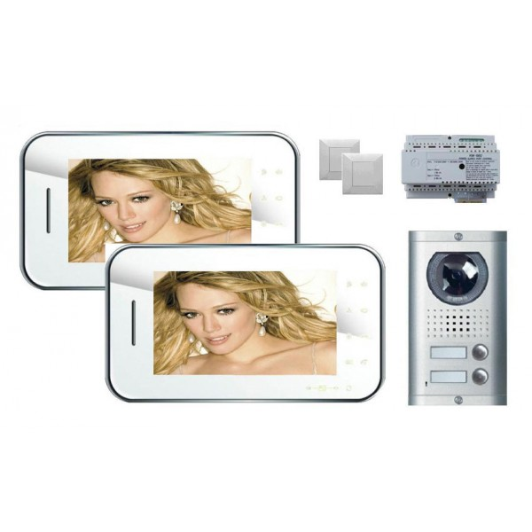 Komplet video domofon KW-S702C & KW-138MC-2B - BELA