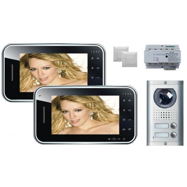 Komplet video domofon KW-S702C & KW-138MC-2B - ČRNA