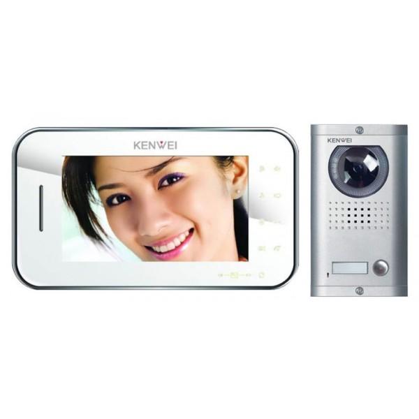 Komplet video domofon KW-S702C & KW-138MC-1B - BELA