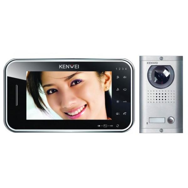 Komplet video domofon KW-S702C & KW-138MC-1B - ČRNA