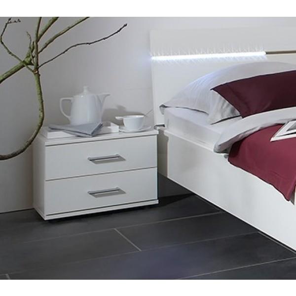 Nočna omarica ELINA - Bela