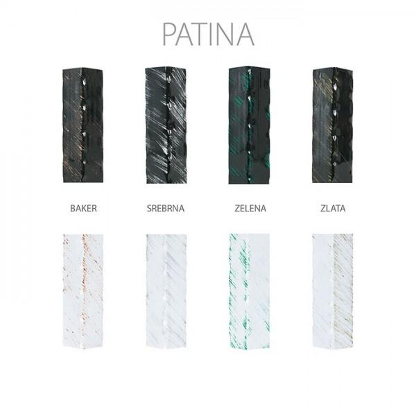 Kovinska postelja LETIDA T1 - Patina
