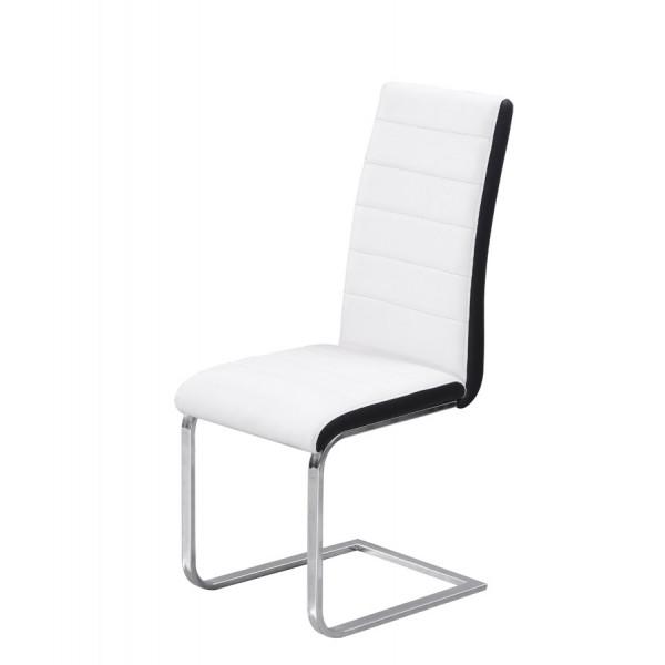 Jedilni stol Triumph: bel sedežni del, črn rob