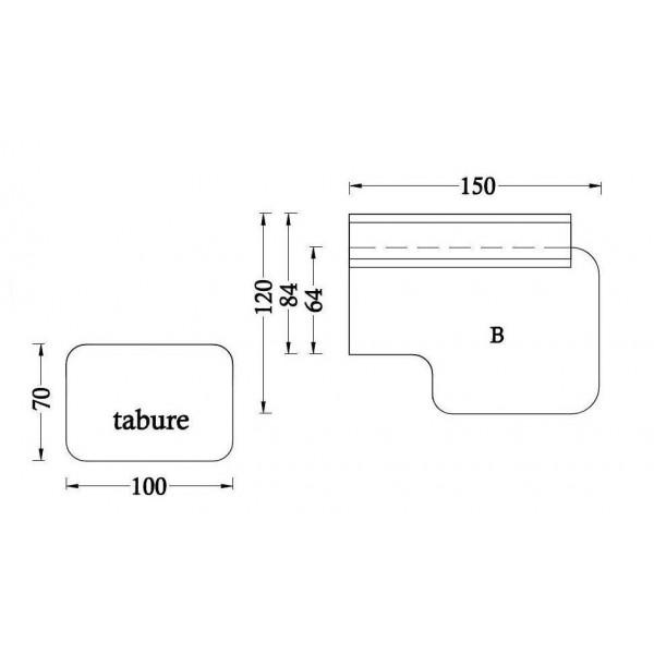 Osnovni element B + tabure