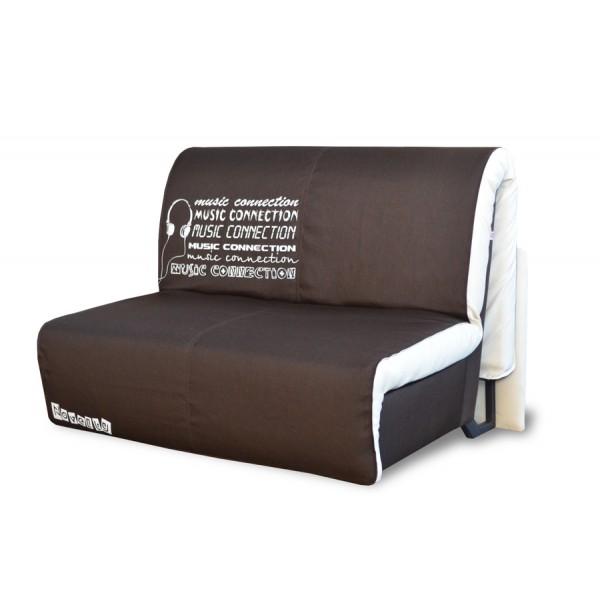 Multifunkcijski kavč Elegant z ležiščem - Vzorec: Music