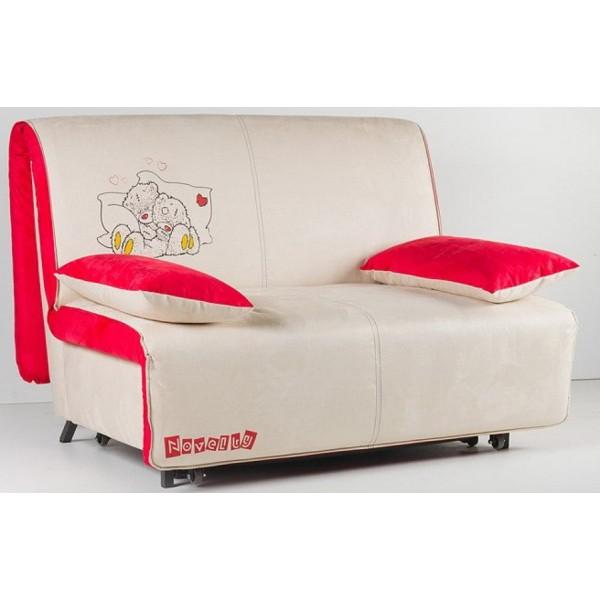 Multifunkcijski kavč Novelty z ležiščem - Vzorec: Teddy color