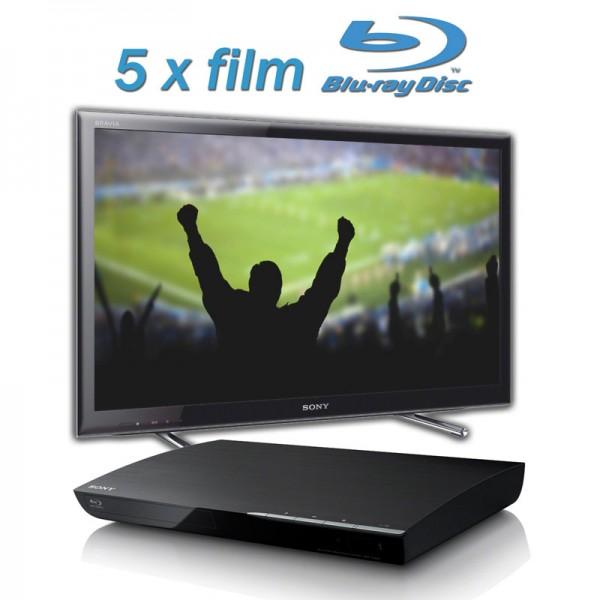 Komplet LED TV SONY KDL-46EX650+ Blue-ray BDPS390+ 5x film