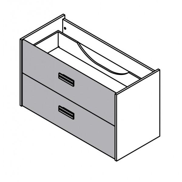 Viseča omara za umivalnik z dvema predaloma 82077