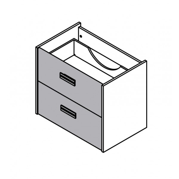 Viseča omara za umivalnik z dvema predaloma 82076