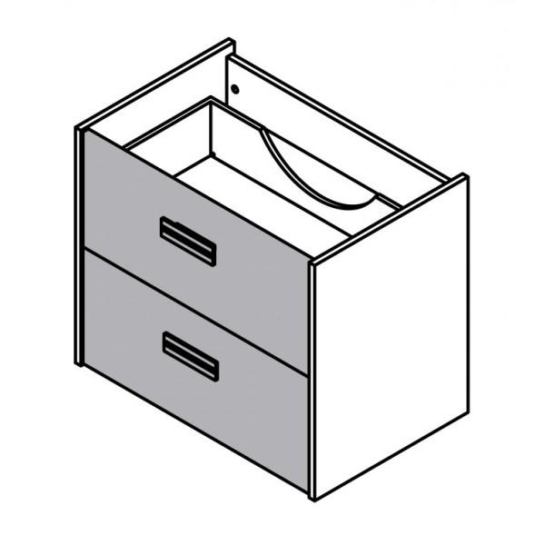 Viseča omara za umivalnik z dvema predaloma 82064
