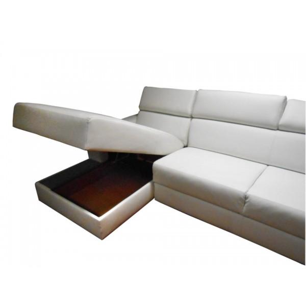 Kotna sedežna garnitura Motion: zaboj
