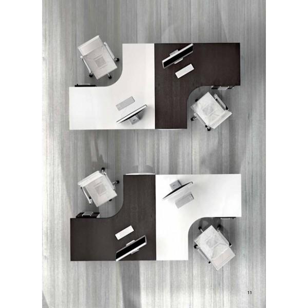 Kotna pisalna miza TK02 - kombinacija