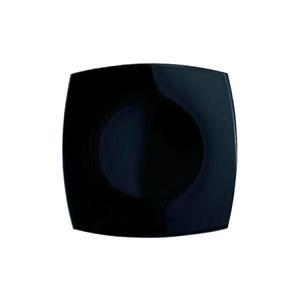 Desertni krožnik Quadrato Črna