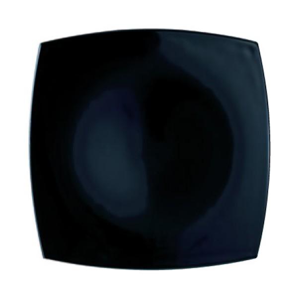 Plitvi krožnik Quadrato Črna