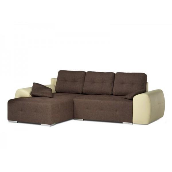 Kotna sedežna LARGO L/D (rjava-bež)