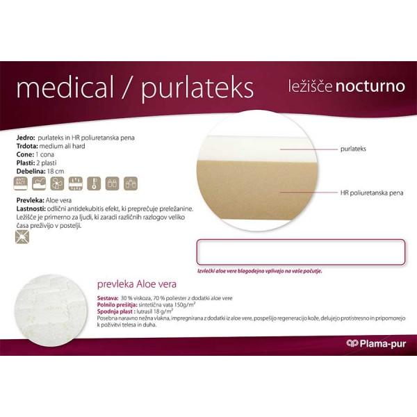 Lastnosti ležišča Medical Purlateks