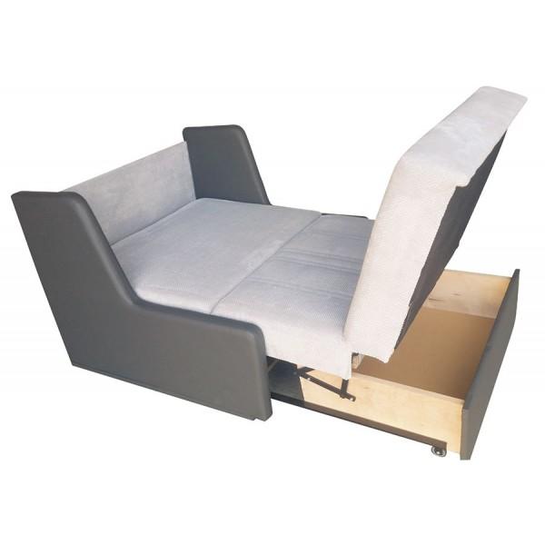 Kavč Manila v sivi barvi