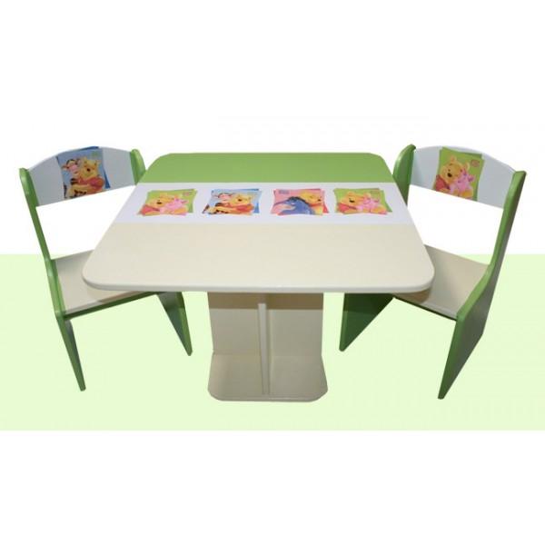 Otroška mizica in stolčka Medvedek Pu