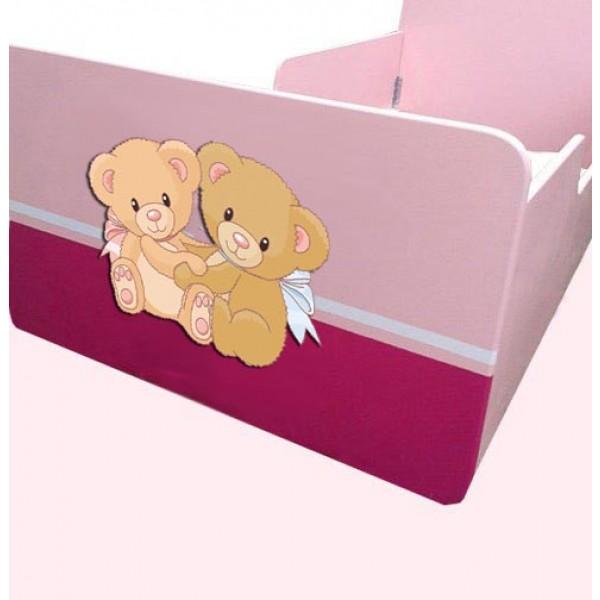 Otroška postelja MEDVEDKA (roza)