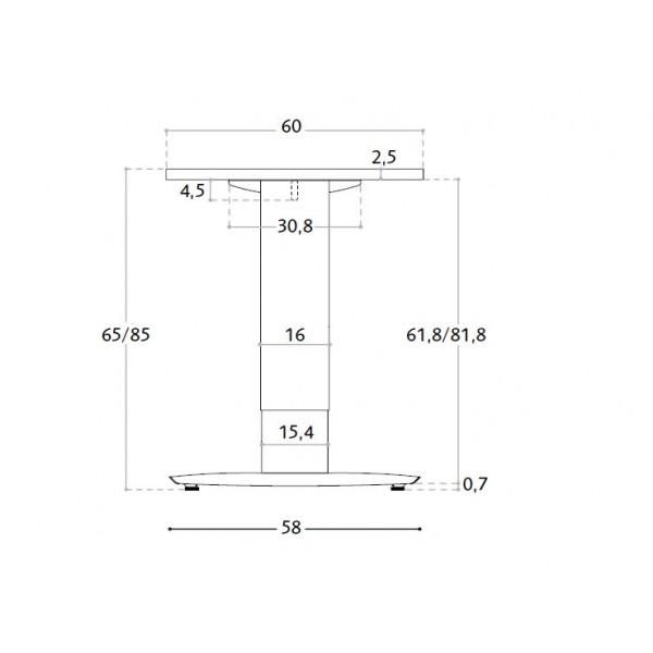 Nastavljiva pisalna miza TK120 dimenzije