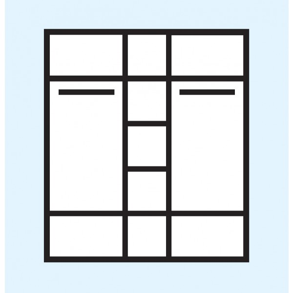 Garderobna omara Neve 20 - notranjost
