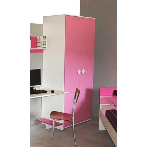Dvodelna otroška omara TEEN COLOURS - roza