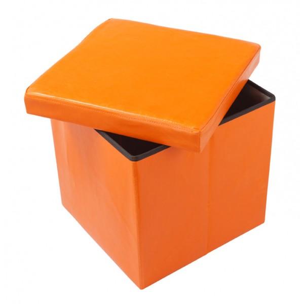 Škatla za shranjevanje in tabure OTO - oranžen