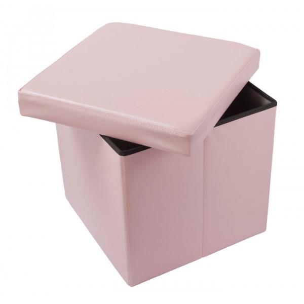 Škatla za shranjevanje in tabure OTO - roza