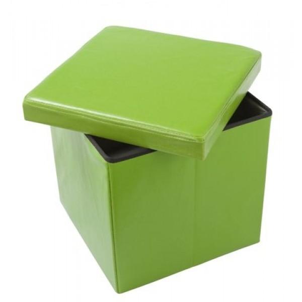 Škatla za shranjevanje in tabure OTO - zelen