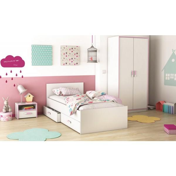 Otroška soba SWITCH - z roza detajli