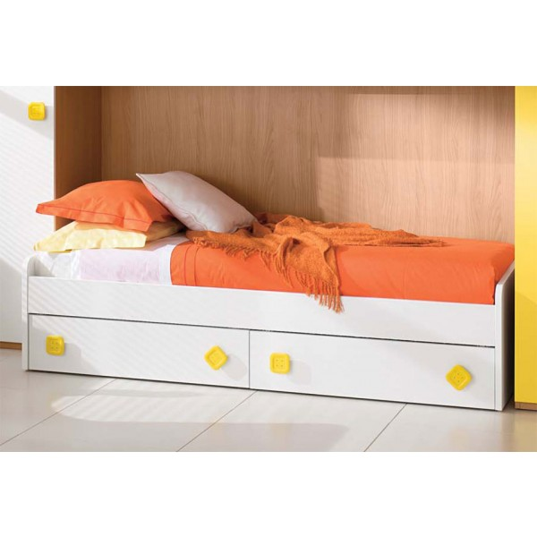 Otroška postelja Basso s predaloma