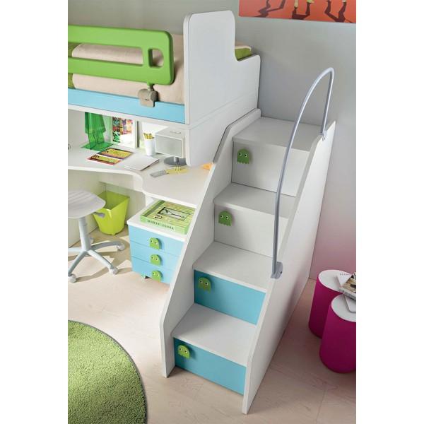 Otroška soba Eresem Volo V123: detajl stopnice