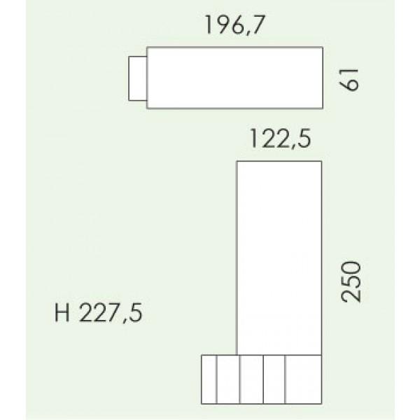 Otroška soba Eresem Volo V123: tloris