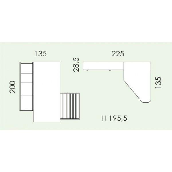 Otroška soba Eresem Volo V126: tloris