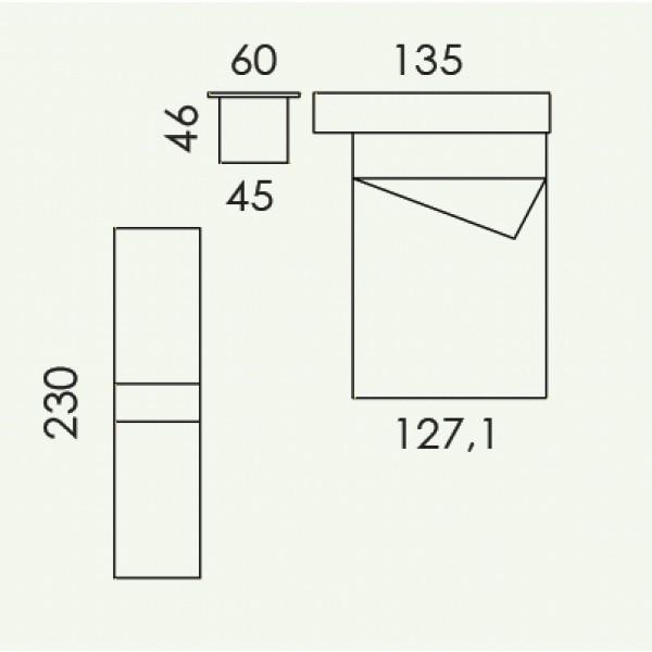Colombini Volo V308 -  tloris