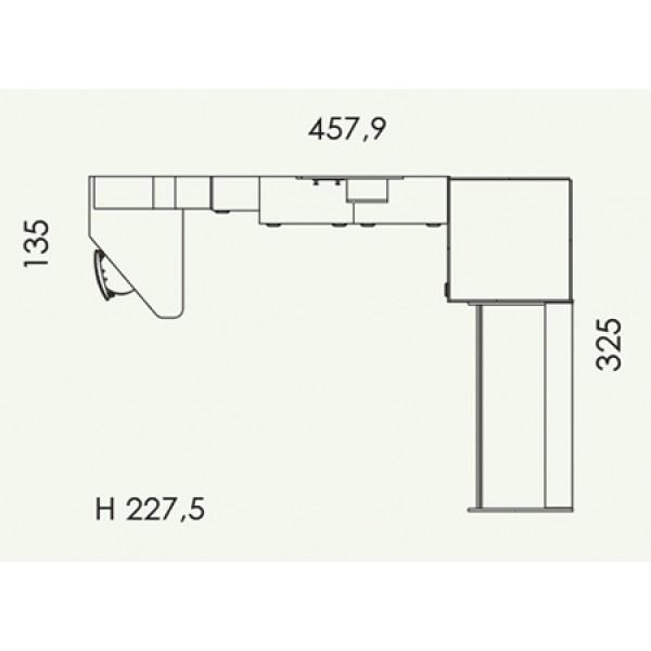 Colombini Volo V310 - tloris