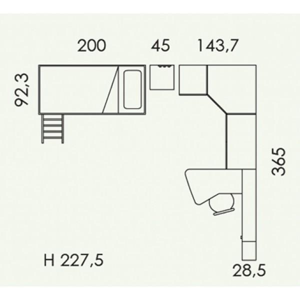 Otroška soba Colombini Volo V312-tloris