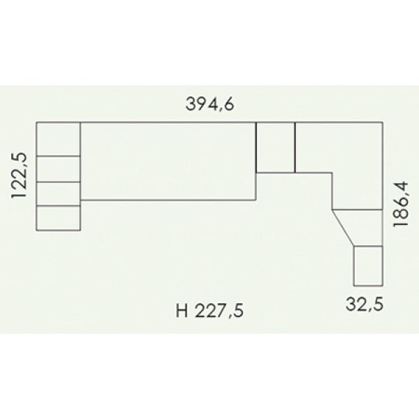 Colombini Volo V316 - tloris