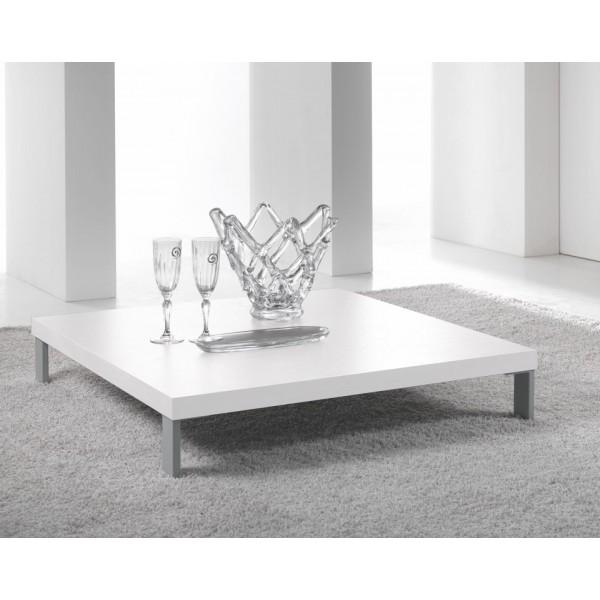 Klubska miza kvadratna bela
