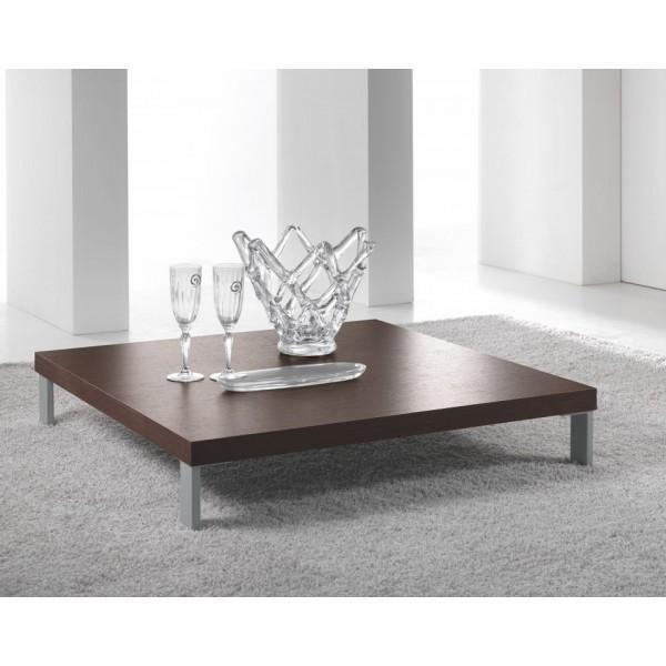Klubska miza kvadratna rjava