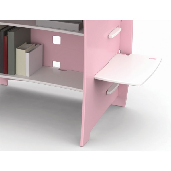 Pisalna miza FUR23 Roza: detajl