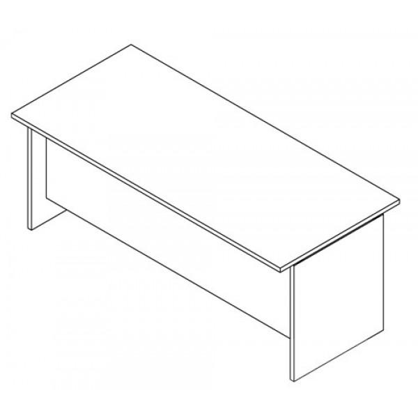 Pisalna miza TK100 (dimenzija 180x60, bela)