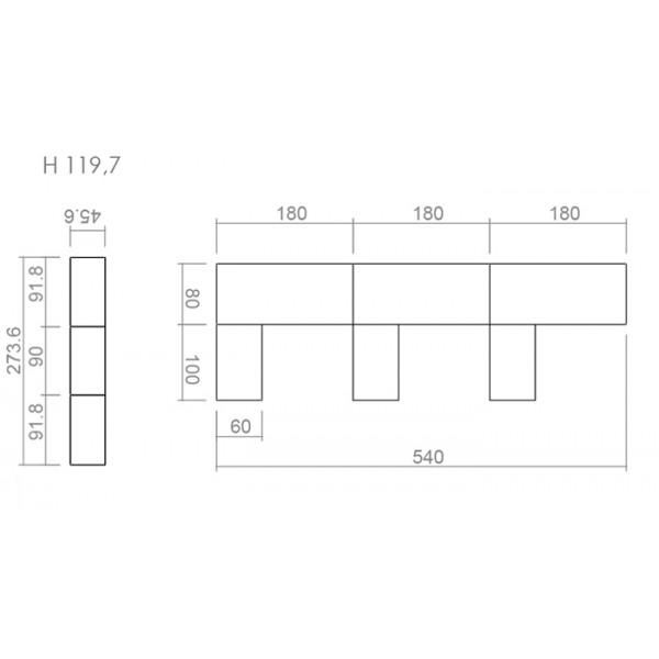 Pisarniško pohištvo komplet z omaro TK03 - dimenzije