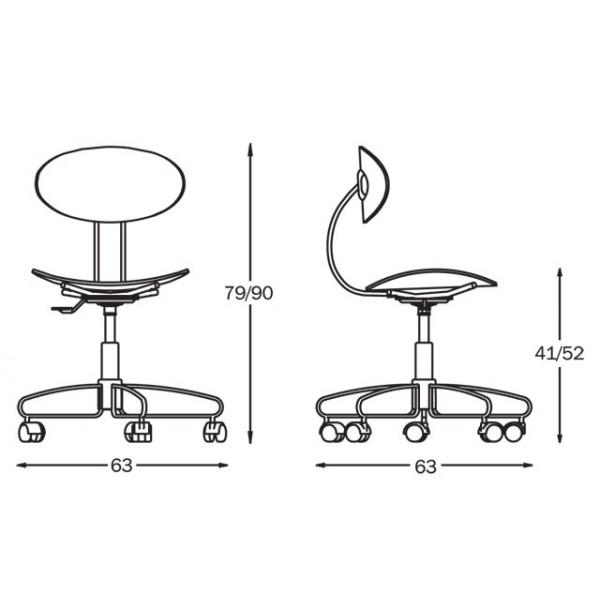 Pisarniški stol Elite Swivel: dimenzije