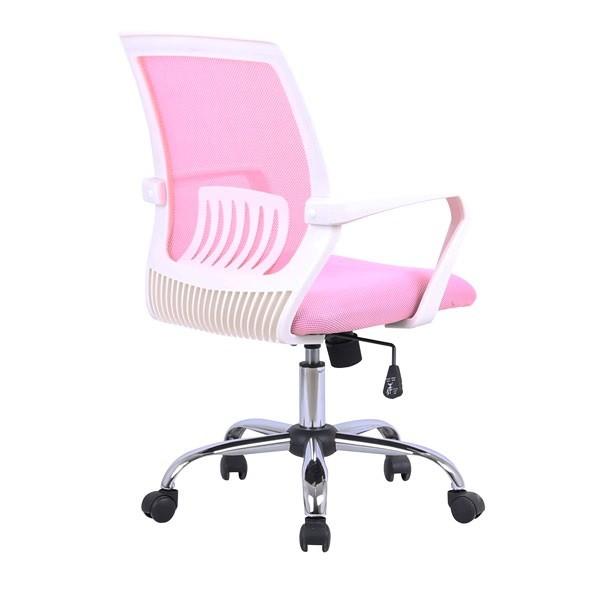Pisarniški stol Lili - roza: dodatna podpora v ledvenem predelu
