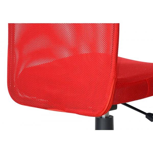 Pisarniški stol NI25: rdeča, detajl