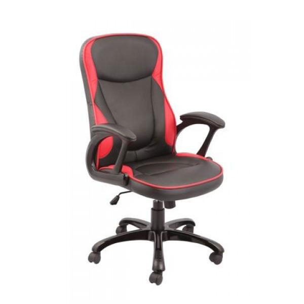 Pisarniški stol TOMAS (rdeče-črn)