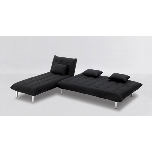 Počivalnik in kavč Pretty: Črna